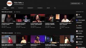 Canal de negócios no YouTube