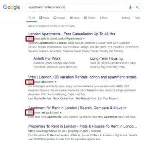 Publicidade contextual na pesquisa do Google